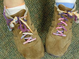 Brinley's shoelaces
