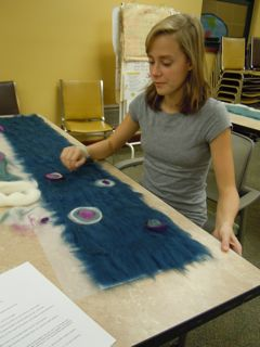 Felted Scarf Workshop XIV